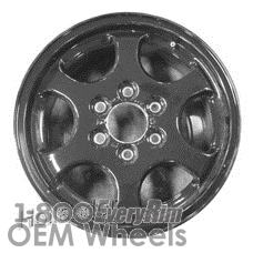 Picture of Chevrolet TRAILBLAZER (2002-2003) 16x7 Aluminum Alloy Black 6 Spoke [05429]
