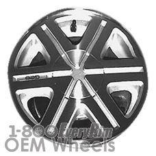 Picture of Geo STORM (1993) 14x5.5 Aluminum Alloy Machined with Black 6 Spoke [60149B]
