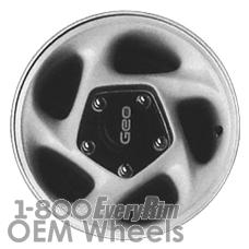 Picture of Geo TRACKER (1994-1995) 15x5.5 Aluminum Alloy Blue 5 Spoke [60168]