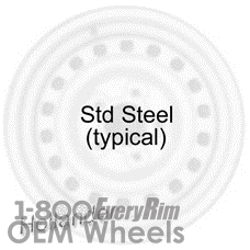 Picture of Nissan 200SX (1984-1988) 15x4 Steel Black  Solid Disc [62351]