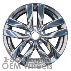 Picture of Nissan ROGUE (2010) 17x7 Aluminum Alloy PVD Chrome 5 Double Spoke [62539]