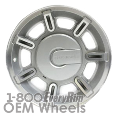 Picture of Hummer H2 (2003-2007) 17x8.5 Aluminum Alloy Machined with Silver 7 Spoke [06302]