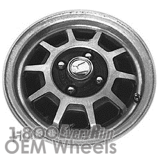 Picture of Honda ACCORD (1983) 13x5 Aluminum Alloy Black 10 Spoke [63647]