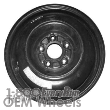 Picture of Acura ILX (2013-2015) 15x4 Steel Black  Solid Disc [63854]