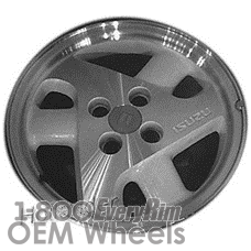 Picture of Isuzu STYLUS (1992-1993) 15x6 Aluminum Alloy Grey 6 Spoke [64196]