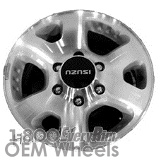 Picture of Isuzu AMIGO (1998) 16x7 Aluminum Alloy Machined with Silver 6 Spoke [64225]