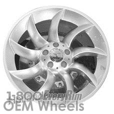 Picture of Mercedes SLR (2005-2009) 19x9 Aluminum Alloy Hyper Silver 9 Spoke [65343]