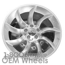 Picture of Mercedes SLR (2005-2009) 19x11.5 Aluminum Alloy Hyper Silver 9 Spoke [65345]