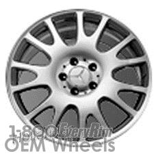 Picture of Mercedes SLK (2007) 18x8.5 Aluminum Alloy Silver 7 Split Spoke [65491]