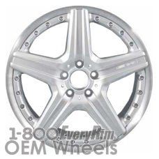Picture of Mercedes CL-CLASS (2007) 19x8.5 Aluminum Alloy Silver with Machined Edge 5 Spoke [65501]