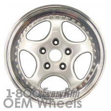 Picture of Porsche 911 (1993-1994) 18x8 Aluminum Alloy Polished 5 Spoke [67216B]