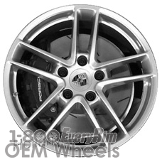 Picture of Porsche 911 (2014-2016) 19x11 Aluminum Alloy Silver 5 Double Spoke [67462]