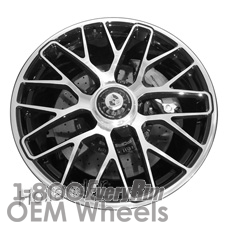 Picture of Porsche 911 (2014-2016) 20x11 Aluminum Alloy Machined with Black 20 Spoke [67464]
