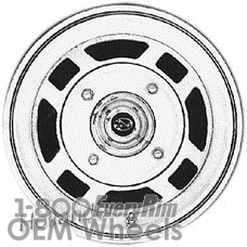 Picture of Subaru PASS (1980-1983) 13x5 Steel Silver 4 Double Spoke [68657]