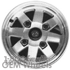 Picture of Subaru PASS (1981-1982) 13x5 Aluminum Alloy Machined with Silver 8 Spoke [68659]