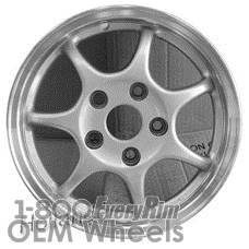 Picture of Toyota CAMRY (1992-1995) 14x6 Aluminum Alloy Silver with Polished Edge 7 Spoke [69381]