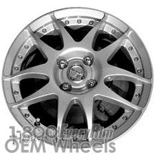 Picture of Scion XA (2004-2006) 15x5.5 Aluminum Alloy Silver 10 Spoke [69487]
