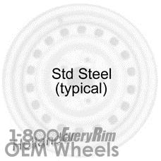 Picture of Scion TC (2005-2010) 16x6.5 Steel Black 16 Hole [69539]