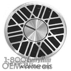 Picture of Volkswagen CABRIOLET (1985-1989) 14x6 Aluminum Alloy Silver 24 Spoke [69905]