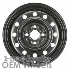 Picture of Saturn S SERIES (1991-2002) 14x5 Steel Black 12 Hole [07001]