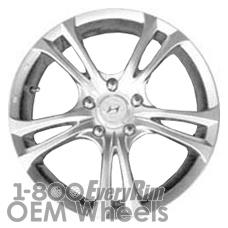 Picture of Hyundai ELANTRA (2007-2010) 17x6.5 Aluminum Alloy Chrome 5 Double Spoke [70749]