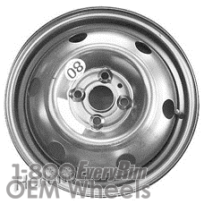 Picture of Hyundai ACCENT (2006-2011) 15x3.5 Steel Black 6 Hole [70815]