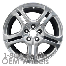 Picture of Acura TSX (2004-2008) 17x7 Aluminum Alloy Chrome 5 Double Spoke [71739]
