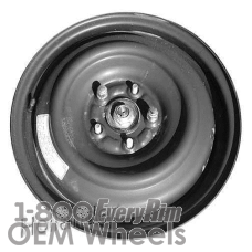 Picture of Acura ILX (2013-2015) 16x4 Steel Black  Solid Disc [71815]