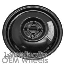 Picture of Kia SEPHIA (1993-2001) 15x4 Steel Black  Solid Disc [74553]