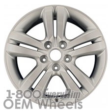 Picture of Kia MAGENTIS (2009-2010) 17x6.5 Aluminum Alloy Chrome 5 Double Spoke [74613]