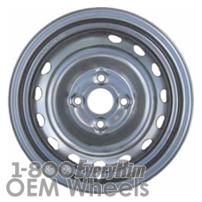 Picture of Kia RIO (2006-2011) 14x5.5 Steel Silver  (for use w/o TPMS Sensor) 15 Hole [74656A]
