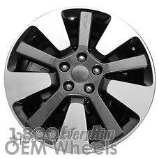 Picture of Kia SOUL (2014-2018) 18x7.5 Aluminum Alloy Chrome  (for use with TPMS Sensor) 5 Spoke [74718A]