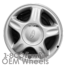 Picture of Daewoo LANOS (1998-2002) 14x5.5 Aluminum Alloy Silver 5 Spoke [75131]