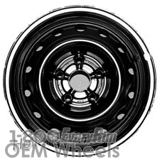 Picture of Daewoo LEGANZA (1997-2002) 15x6 Steel Black 14 Hole [75134]