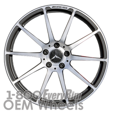 Picture of Mercedes SLS (2011-2014) 19x9.5 Aluminum Alloy Machined with Black 10 Spoke [85206]