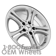 Picture of Mercedes B-CLASS (2015) 17x7.5 Aluminum Alloy Silver 5 Double Spoke [85389]