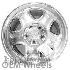 Picture of Jeep WRANGLER (2002-2004) 15x7 Steel Chrome 5 Spoke [09012B]